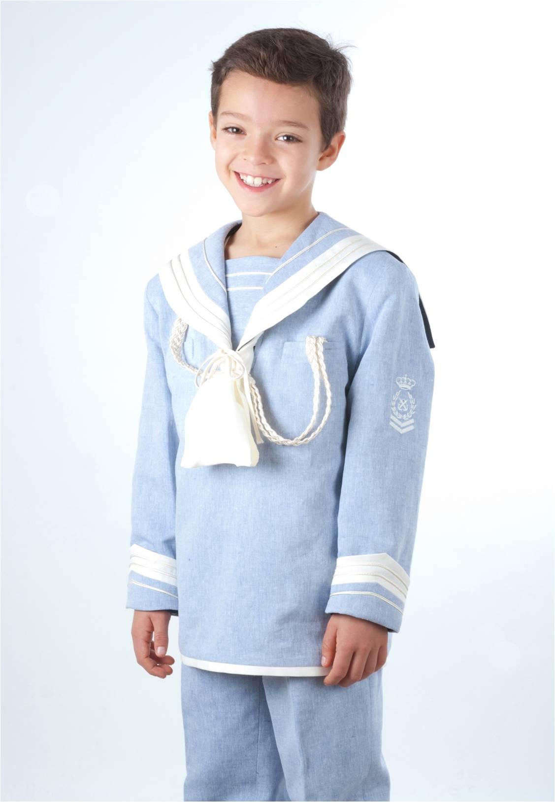Traje de marinero en lino